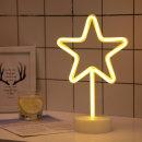 LED 네온사인 스탠드 무드등 (스타) 감성조명 카페