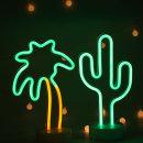 LED 네온사인 스탠드 무드등 (야자수) 감성조명 카페