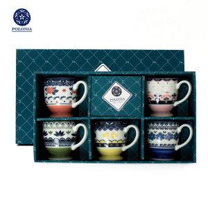 폴로니아 폴란드 감성 디자인 커피잔 머그컵5P세트