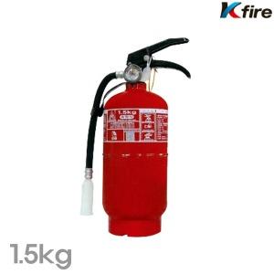 한국소방기구 축압식 분말소화기 1.5kg 화재 소화기