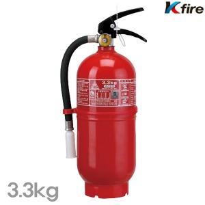 한국소방기구 축압식 분말소화기 3.3kg 화재 소화기