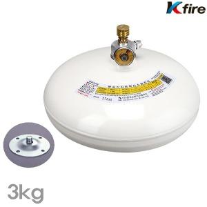한국소방기구 자동확산소화기 천장형소화기3kg 소화기