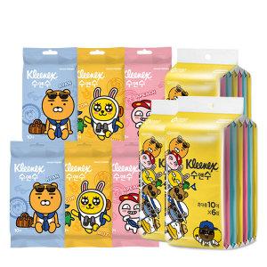 카카오 수앤수 물티슈 휴대용 10매 24개