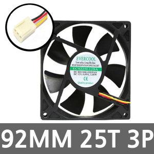92MM 저소음 컴퓨터 PC 케이스 시스템쿨러팬 튜닝쿨링