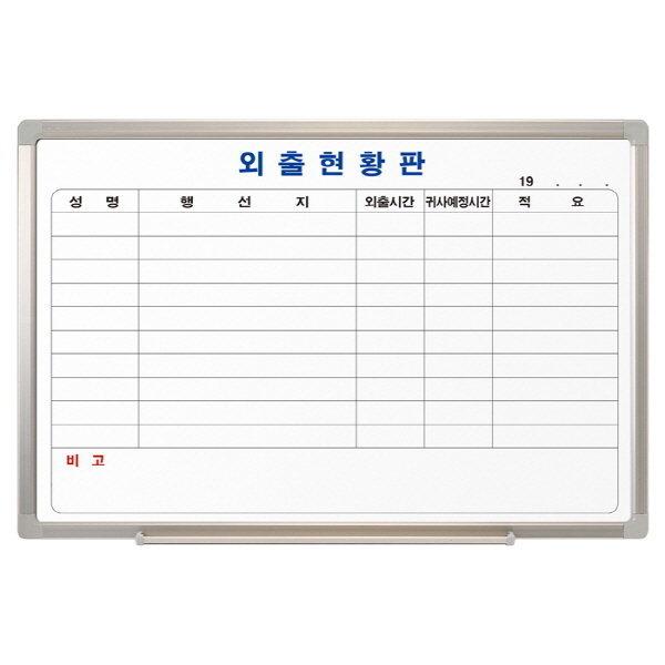 화이트보드(외출/90X60/OfficeDEPOT/스탠드 별도구매)