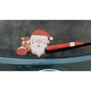 차량용 후방 와이퍼 산타 데코 루돌프 스티커