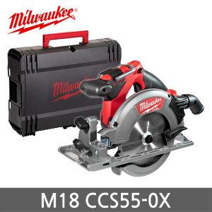 밀워키 M18 CCS55-0X 18V 충전 원형톱 6.5인치 본체