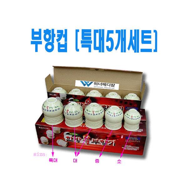 현대한방 불부항 단지 (특대5개세트) 부항컵