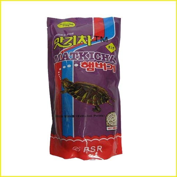 맛기차햄버거거북이사료/거북이사료/감마루스사료