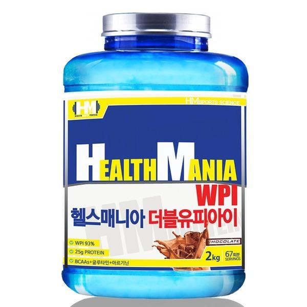 단백질 헬스보충제 헬스매니아 WPI 초코맛 무맛 2kg