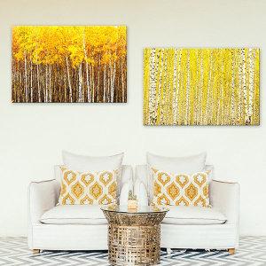 돈 들어오는 황금자작나무 그림액자 실내 인테리어