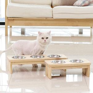 리빙숲 마리 펫테이블 2구/3구 반려동물 식기 밥그릇