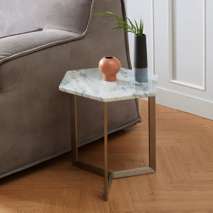 이태리 천연 대리석 거실 소파 침대 사이드 테이블