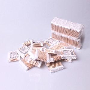 고급 순면 일회용 위생 면봉 나무 면봉 2000개