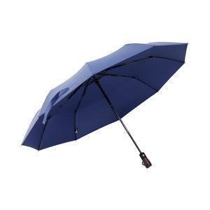Lotosblume 3단 자동 우산 블루 선물 중형 1~2인용