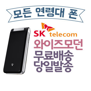 SK 3G 유심O Anycall 와이즈모던폰 SHW-A240S A급실버