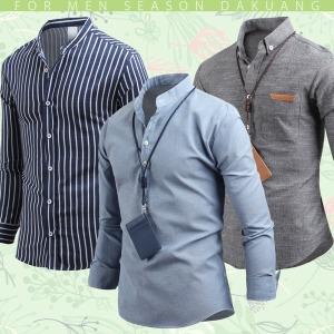 남자 셔츠 남방 남성 와이셔츠 체크남방 스트라이프