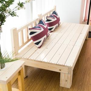 평상형 소나무 원목소파 다용도 침대 쇼파 벤치