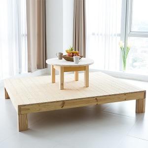 소나무 원목평상 침대 소파 거실베란다 다용도평상