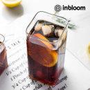 인블룸 북유럽 로고 투명 유리 사각형컵 H-400ml