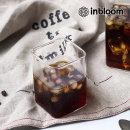 인블룸 북유럽 로고 투명 유리 사각형컵 L-250ml