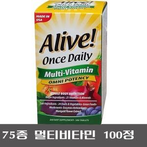 쇼핑백포함/얼라이브 멀티비타민 100정