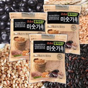 블랙푸드미숫가루 3봉 1kgx3/검은콩 검은깨 함유