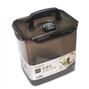 락앤락 숨쉬는김치통-투핸들 물김치통(HPL828B)5L