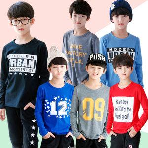 주니어 남아 면티 가을 아동 티셔츠 초등학생 의류 옷