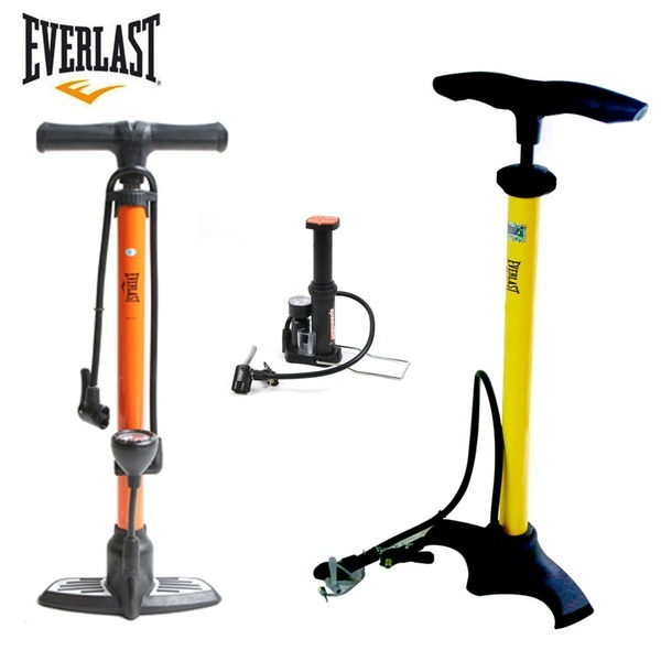 EVERLAST 자전거펌프 발펌프 게이지 공기주입기
