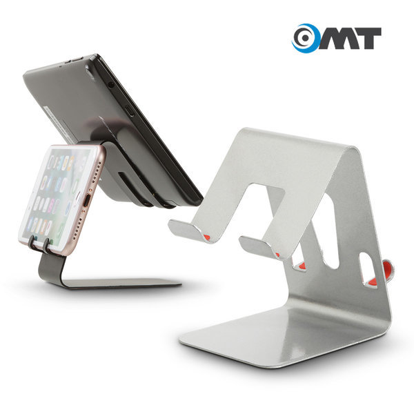 OMT 메탈 태블릿 휴대폰 거치대 OSA-500 동시거치 실버