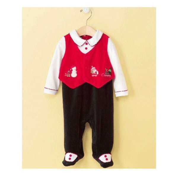 Baby Boys Vest Coveralls  Dress Velour - 6~9개월