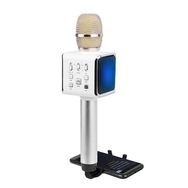 KTV-Q7 블루투스 무선마이크 LED조명 스마트폰 거치대
