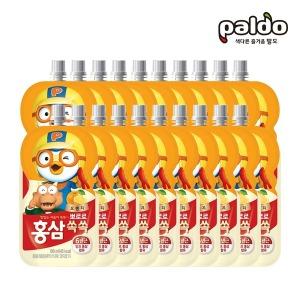 뽀로로홍삼쏙쏙 오렌지(파우치) 100ml 총20개(2BOX) - 상품 이미지