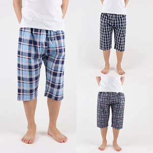 실켓특면 남녀8부파자마 잠옷바지 실내복 국산 면잠옷