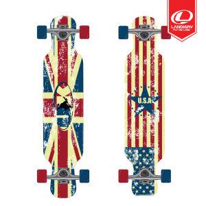 맥길 플래그 스케이트보드 42/롱보드/ABEC7크롬베어링