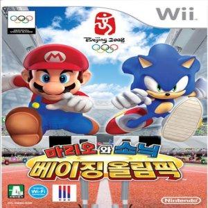 wii 마리오와 소닉 베이징올림픽 한글판 중고 풀박스