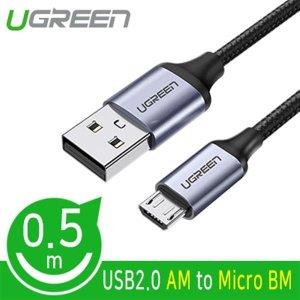 Ugreen U-60145 USB2.0 마이크로 5핀 케이블 0.5m