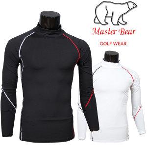 (남성) Master Bear 배색 아쿠아 골프티셔츠 골프웨어