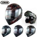 SOMAN프리미엄 풀페이스 레이싱 오토바이헬멧SH13