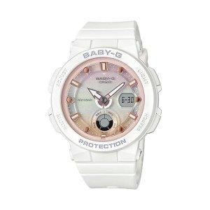 (현대백화점) 지샥(BABY-G)  베이비 지 캐주얼시계  BGA-250-7A2DR 비치 트래블러시리즈 사랑스러운 화이트