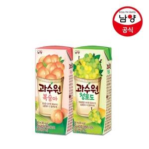 과수원 청포도/복숭아 190ml 48팩 맛선택