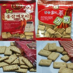 홍삼건빵 홍삼깨보리비스킷 (각 1박스/100gX30봉)