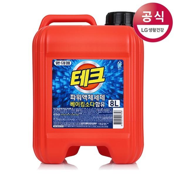 테크 파워액체세제 대용량 8L (일반/드럼겸용)