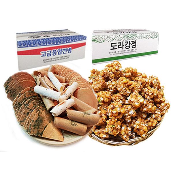 옛날과자 고급종합전병1kg+도라강정800g