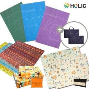 국내산 홀릭엠보 캠핑매트2+가방2 사이즈/디자인 다양
