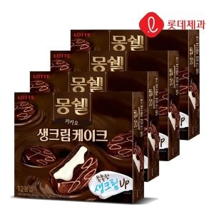 몽쉘 생크림 카카오 384g 4묶음
