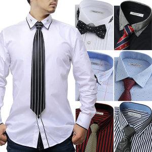 95~130 남자 남성 기모 데님 체크 셔츠 남방 와이셔츠