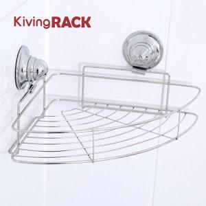 키빙락 P코너선반 국산 이중흡착 욕실 용품 선반