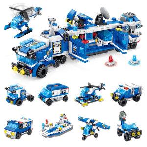 8 IN 1 경찰본부차 8종 팩세트 (681001)/레고 호환블럭
